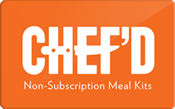 Sell Chef'd Meal Kits Gift Card