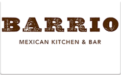Sell Barrio Mexican Kitchen & Bar Gift Card