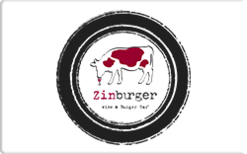 Sell Zinburger Wine & Burger Bar (East Coast) Gift Card