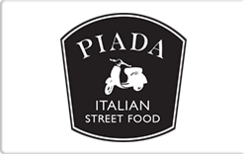 Sell Piada Italian Street Food Gift Card