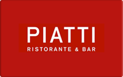 Sell Piatti Italian Restaurant & Bar Gift Card