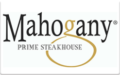 Sell Mahogany Prime Steakhouse Gift Card