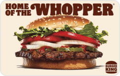 Sell BURGER KING® Gift Card