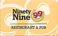 Buy 99 Restaurant & Pub Gift Card