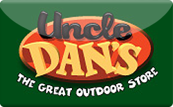 Buy Uncle Dan's - The Great Outdoor Store Gift Card