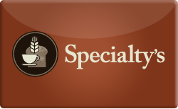 Sell Specialty's Cafe & Bakery Gift Card