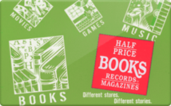 Sell Half Price Books Gift Card