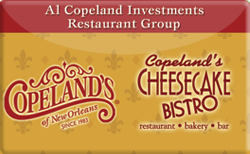 Sell Copeland's Cheesecake Bistro Gift Card