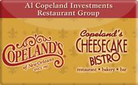 Buy Copeland's Cheesecake Bistro Gift Card