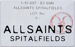 Allsaints spitalfield gift card